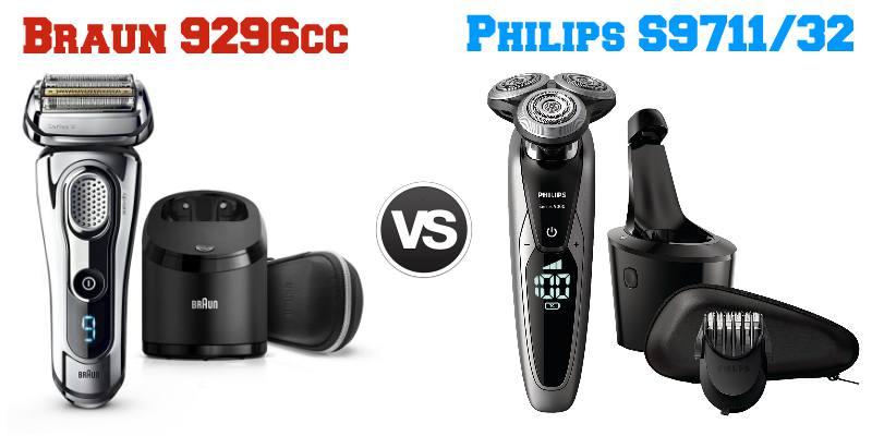 Confronto Braun 9296cc e Philips S9711 /32