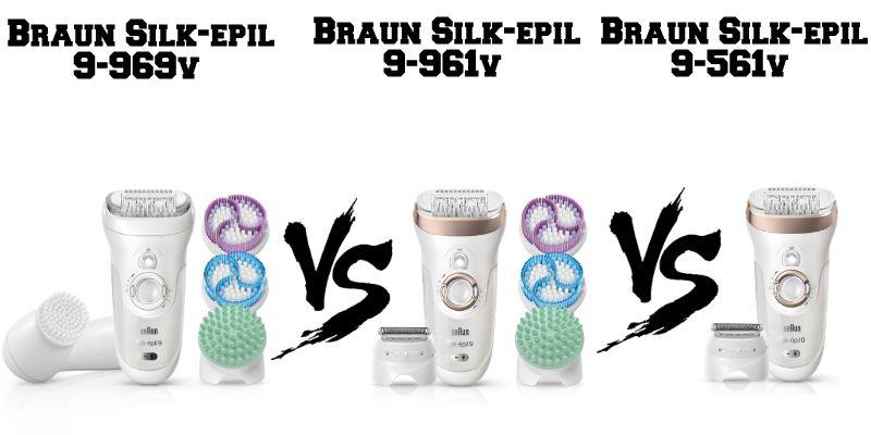 Confronto Braun Silk-èpil 9 9-969v, 9-961v e 9-561v