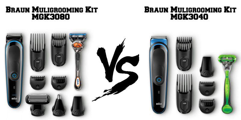Confronto Braun Multigrooming Kit MGK3080 e MGK3040