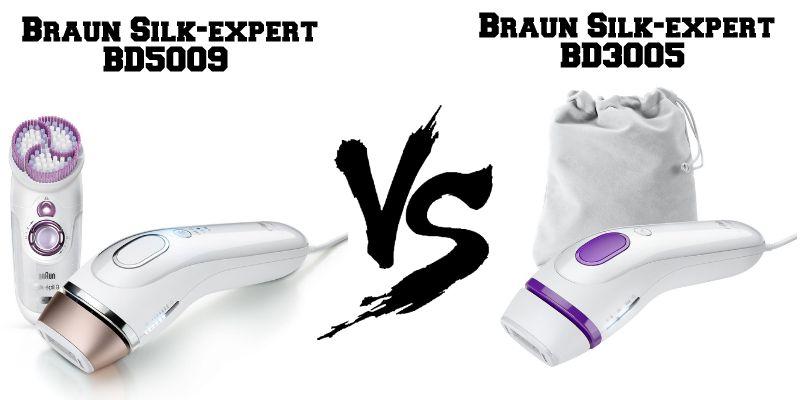 Confronto Braun Silk-Expert BD5009 e BD3005