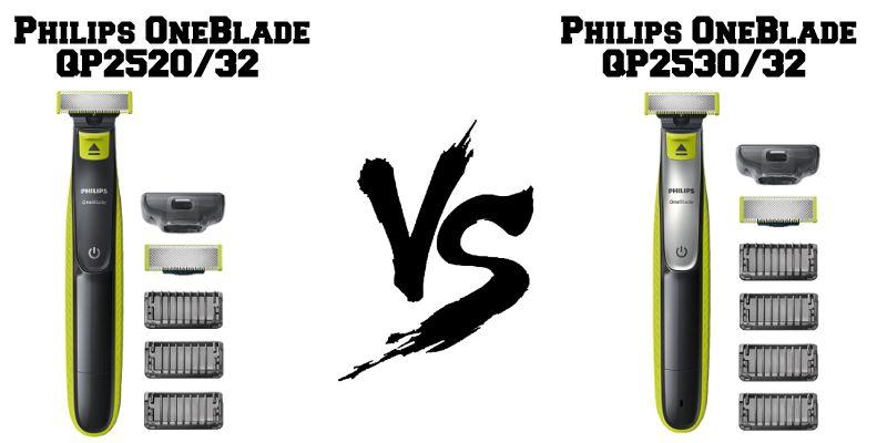 Confronto Philips OneBlade QP2520 e QP2530